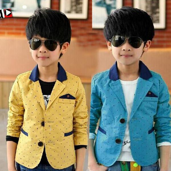 causal garçon costume blazer classique étoiles blueyellow coton blazer veste pour 4-14 ans garçons enfant enfants causal blazer costume vêtements