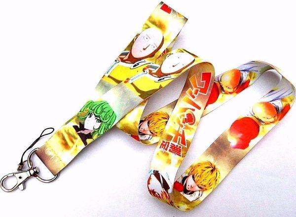 Caldo ! 30pcs Anime One Punch Man Saitama Genos Neck Strap Cordino per porta badge portachiavi telefono