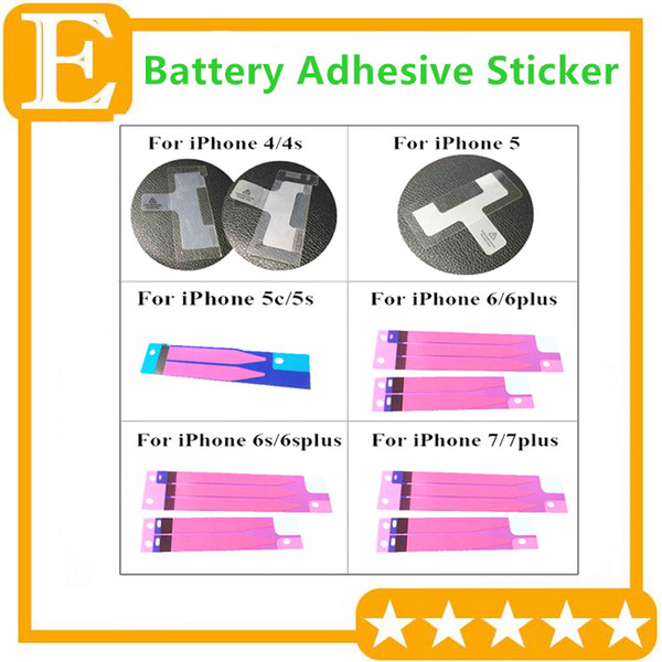 Battery Sticker Adhesive Tape Glue Strip for Back Housing Rear Heat Dissipation for iphone 4 5 5c 5s 6 6s 7G 7 Plus