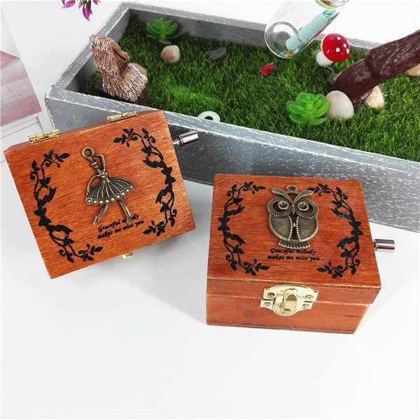 Woodiness Hand Retro Music Box Creative Fashion Gift For Friends High Grade Home Furnishing Decorate Arts And Crafts 13lz J