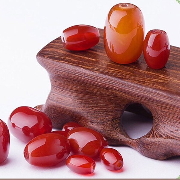 20pcs/lot Natural Red pearl barrel beads Agate Beads Natural Red onyx bead For DIY Fashion Jewelry Bracelet Making Free shipping