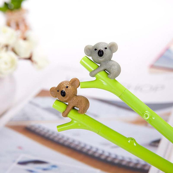 New 25Pcs Cute Koala Bear Gel Pen for Writing 0.5mm Roller Ball Black Color Pen Office Kawaii Stationery Accessories School Supplies