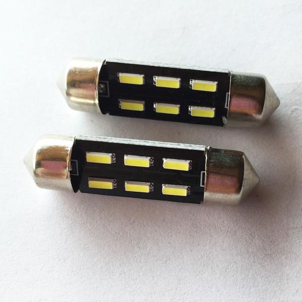 31mm 36mm 39MM 41mm 6led 4014 SMD Festoon Dôme De Voiture Lumière Intérieur Lampe Ampoule Dôme Panneau De Plafond Lumière