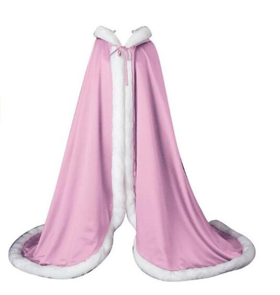 Hot Sell Pink Red Bridal Cloaks Shawl Wedding Fur Bolero Winter Wedding Coat Evening Dress Bolero warm winter Costume Custom Any colour