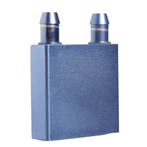 Wholesale- New Water Cooling Block 40x40x12mm Liquid Cooler Waterblock radiator for GPU CPU cooling Laser Head Industrial Control Cabinet