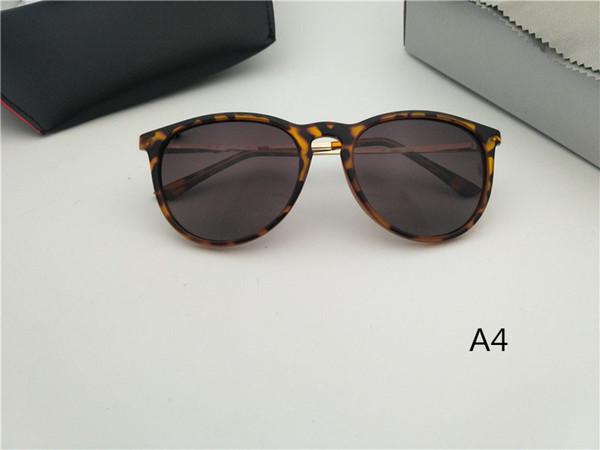 Gafas de sol de alta calidad de la manera del marco de la tortuga para las mujeres de los hombres UV400 Diseño de la marca del deporte gafas de sol Espejo con caja