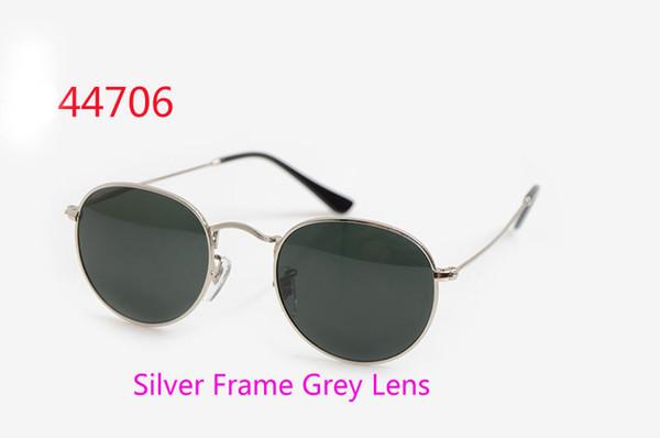 Silver Frame Grigio Lens
