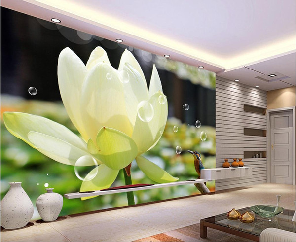 High Tech Lotus Kingfisher Close Up Tv Background Wall Mural 3d Wallpaper 3d Wall Papers For Tv Backdrop I Wallpapers Hd Image Wallpaper Photo From