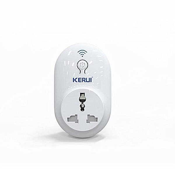 LS-KERUI Alarm Accessories Wireless Remote Switch Smart Power Socket Plug 433MHz suit for aged and children