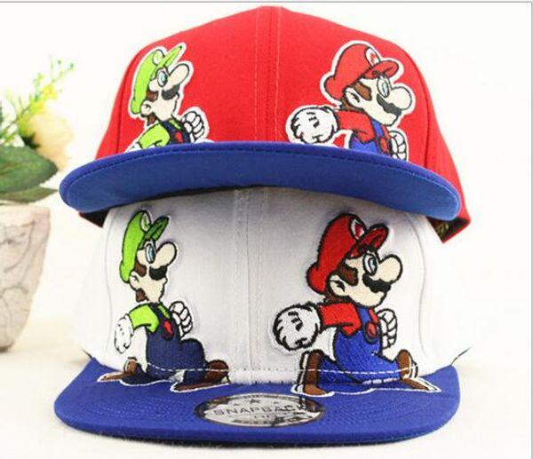 Snapback Children's Hat Super Mario Cartoon Hip hop hip-hop along baseball cap