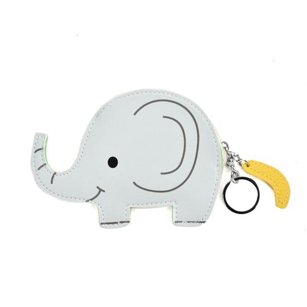 Mini Mignon Animal Lady Porte-Monnaies Éléphant Ours De Bande Dessinée Porte-clés Porte-monnaie Accessoires Plaine Zipper Fille Sac Pendentif Souriant LBQ453