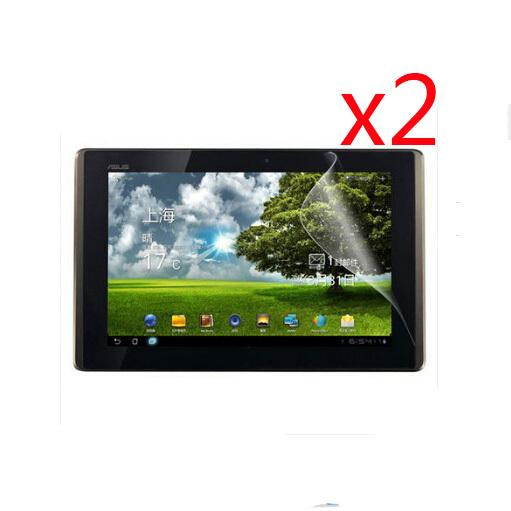 Wholesale- 2x Clear Films +2x Clean Cloth LCD Screen Protector Protective Film Guards For Asus Eee Pad Transformer TF300 TF300T TF300TG