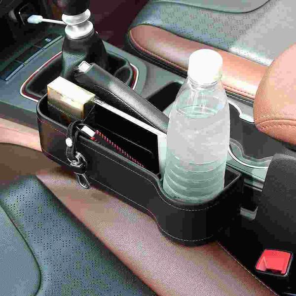 Leather Catch Catcher Box Car Seat Gap Slit Storage Organizer Coin Box Left Right Car Seat Gap Pocket Holder Coin Bag