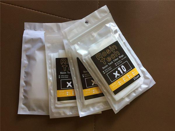 25/90/120/160 micron borsa filtro per tè in resina con rete in nylon 2,5x4