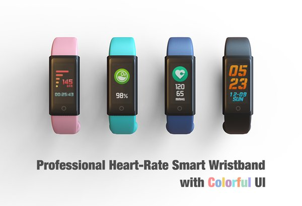 most fashion bluetooth bracelet smart wristband outdoor sports heart-rate wrist watch Fitbit Flex with colorful UI free shipping