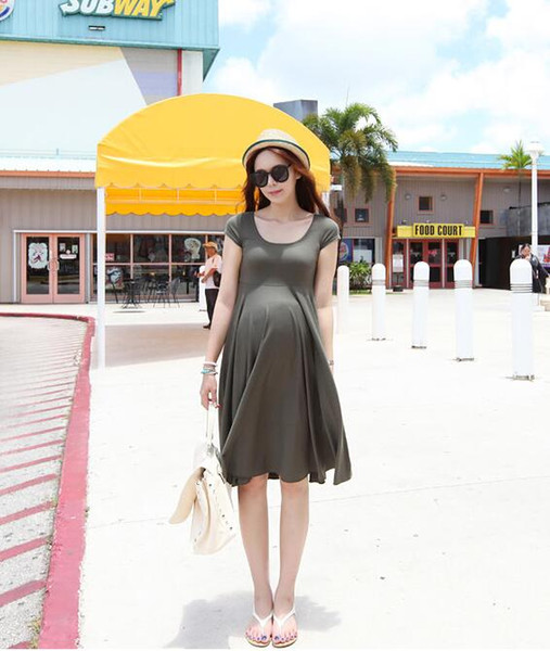 best selling 2017 Summer Hot Selling Morality Pregnant Women Dress Black Color-36473