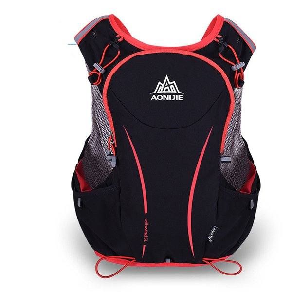 Wholesale- AONIJIE 5L Outdoor Sport Running Backpack Women/Men Marathon Hydration Vest Pack for 1.5L Water Bag Cycling Hiking Bag