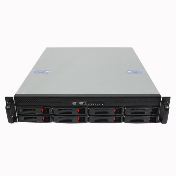 2U550mm8 disk hot-swappable server computer case Rack type Internet cafes store short server chassis