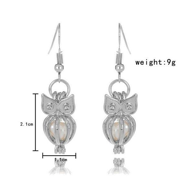 Mode Liebe Wunsch Perle Käfige Medaillon Ohrringe Süßwasserperlen Oyster Anhänger Ohrringe (ohne Pearl Canned) Aushöhlen baumeln Ohrringe