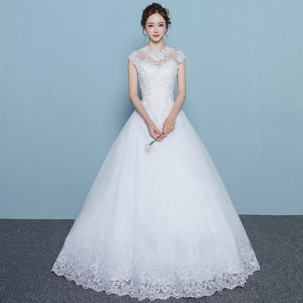 The new Chinese style wedding dress 2017 new bride slim slim big ...