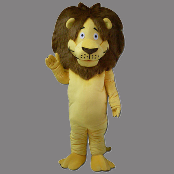 Mascot Costume Lion Halloween Christmas Birthday Character Costume Dress Yellow Smile Lion Mascot Free Shipping