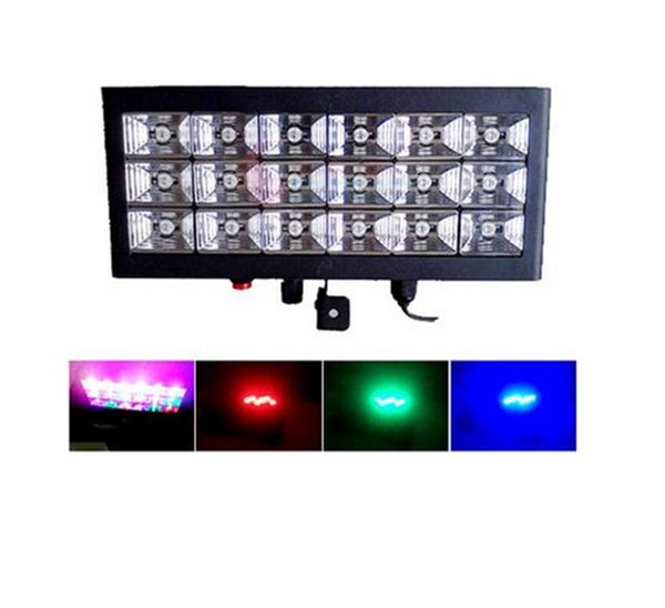 Wholesale- KTV 20W Voice Control Led Stage DJ Lights Strobe Ball Disco Flash Light RGB Club Party Stage Effects For The Stage AC110-240V