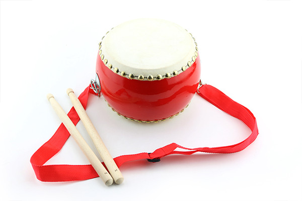 top popular Red drum percussion toys children enlightenment music beating drums drums Chinese musical instruments free shipping 2021