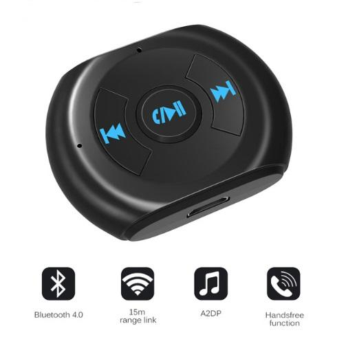 A2DP 3.5mm Jack Bluetooth Car Kit Car Wireless Bluetooth 4.0 AUX Audio Music Receiver Adapter with Microphone for Cell Phone