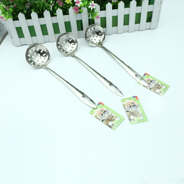 stainless steel integrated large surface Hot pot colander fishing net mesh spoon