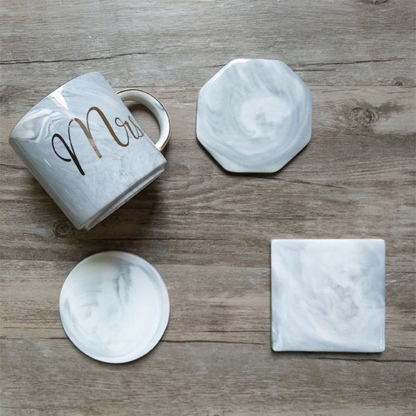 Tableware, Serving & Linen Marble Ceramic Coasters Square Round Mug Coffee Cup Table Insulation Coaster Hot