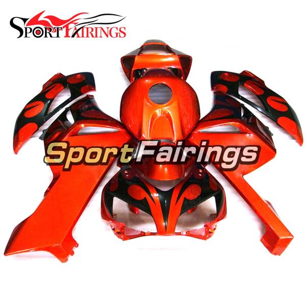 ABS Einspritzungs-Glanz-orange schwarze Verkleidungen für Honda CBR1000RR 04 05 2004 2005 Plastikmotorrad-Karosserie-Motorrad-Cowling-Körper-Installationssatz Carene