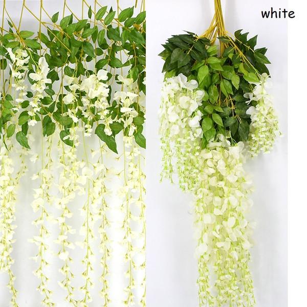 240 unids exclusivo simulación de flor de ratán de seda artificial vid de glicina para la decoración de la boda fiesta en casa ornamento envío gratis