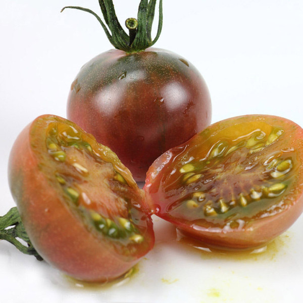 A Pack 100 Pcs Colorful purple tomato Seed Balcony Fruits Seed Vegetables Potted Bonsai Plant Tomato Seeds for Home&Garden