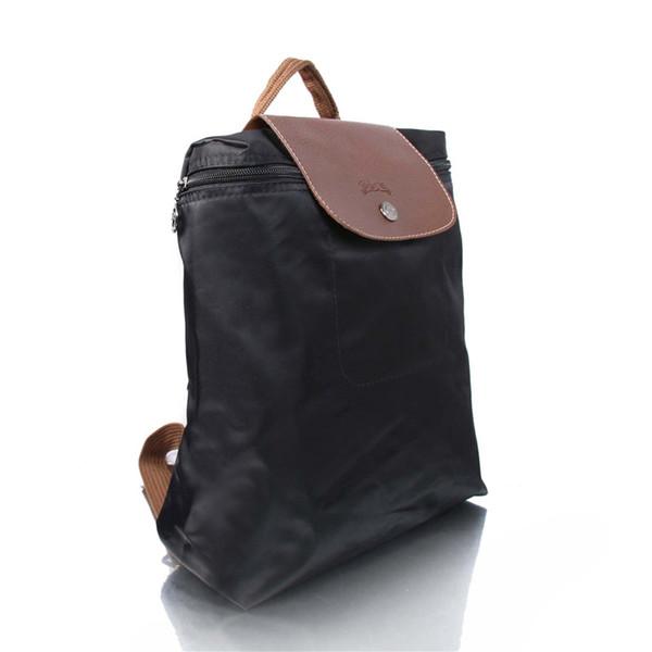 2017 Womens Bag Summer Paris Fashion Long Women's Handbag Folding Nylon Backpack Bag Waterproof Folding Bag Champagne