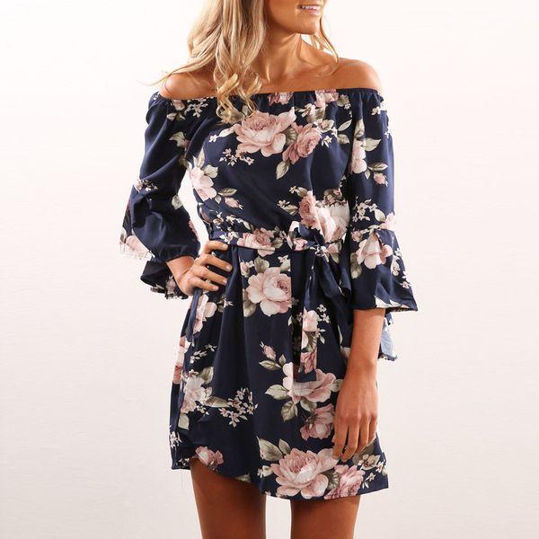 Лето 2019 года и взрывы платья сексуального платье без спинки плеча