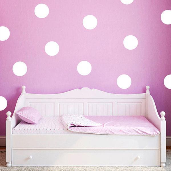 Cute Polka Dot Art Wall Sticker for Kids Room Girl Bedroom Decor Fun Round Dots Vinyl Decal Nursery Room Mural D928