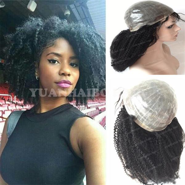 Medical wig the best selling wigs 1b virgin brazilian hair kinky curly pu base full thin skin wig for black women free shipping