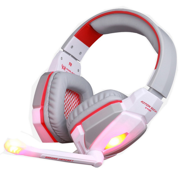 top popular KOTION EACH G4000 Stereo Gaming Headphone Headset Headband with Mic Volume Control for PC Game DHL Free 2021