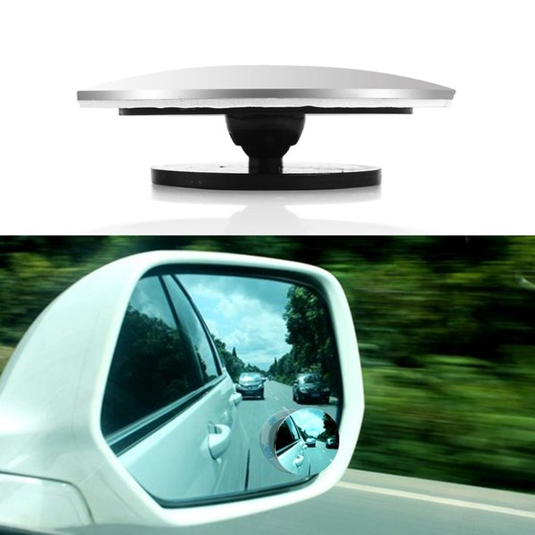 2pcs Car Rearview Mirrors Universal Blind Spot Rear View Mirror, Rimless Rearview Mirror Covers Wide Angle Round Convex mirror