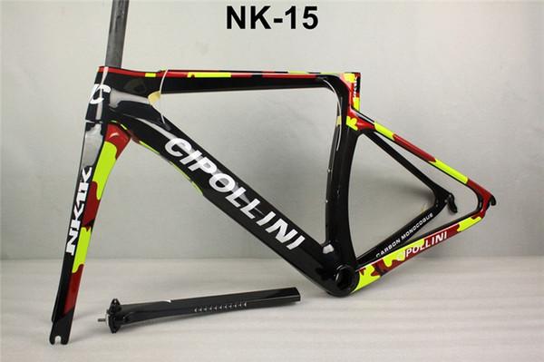 red black Cipollini NK1K Carbon Frame Road Bike Frameset T1000 1k or 3K racing bicycle frame free shipping Mcipollini NK 1K frames
