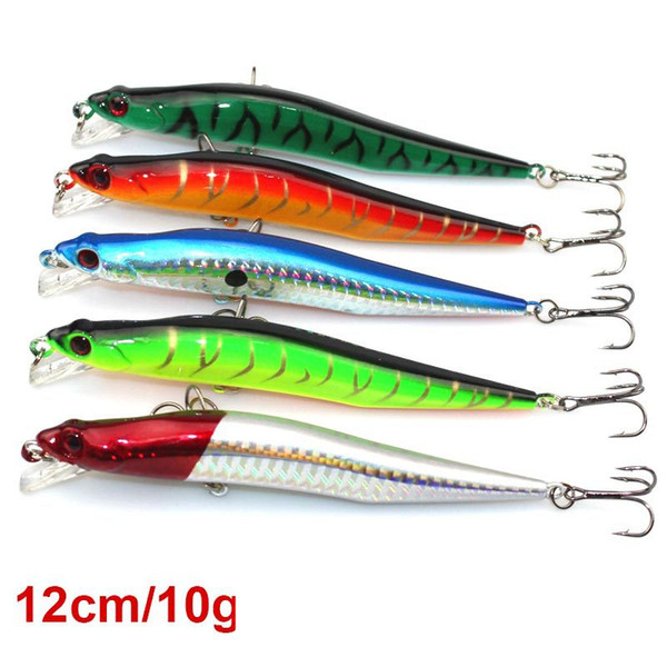 Hot Selling Fly Fishing Plastic Hard Bait 10g 12cm 3D Eyes Minnow fishing lure Fishing tackle