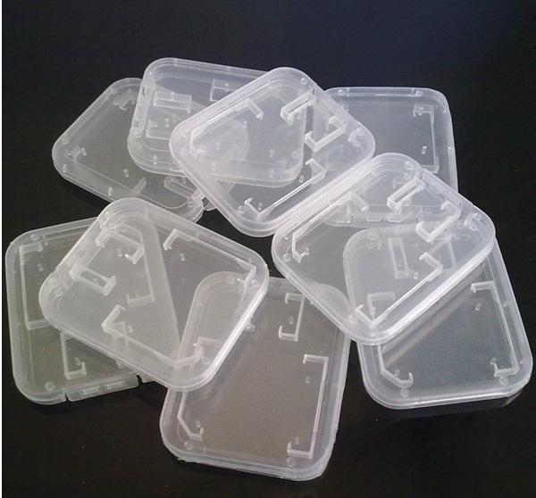 Caja de plástico de la tarjeta del TF de 1000pcs SD MMC caja envío libre # WRF46