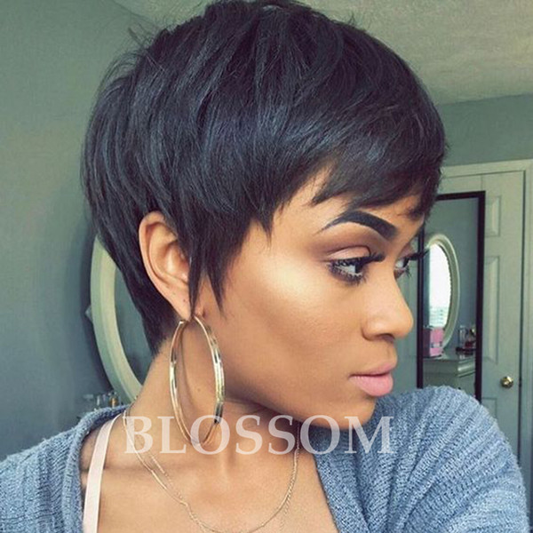 New Brazilian Cut Hair Short Natural Wigs