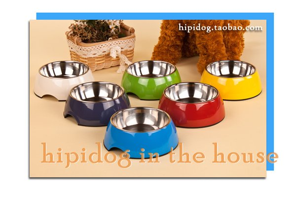 Food Grade in acciaio inossidabile per animali domestici Acqua Ciotola Design moderno gatto del cane Spedizione ciotola dell'animale domestico ciotola libero