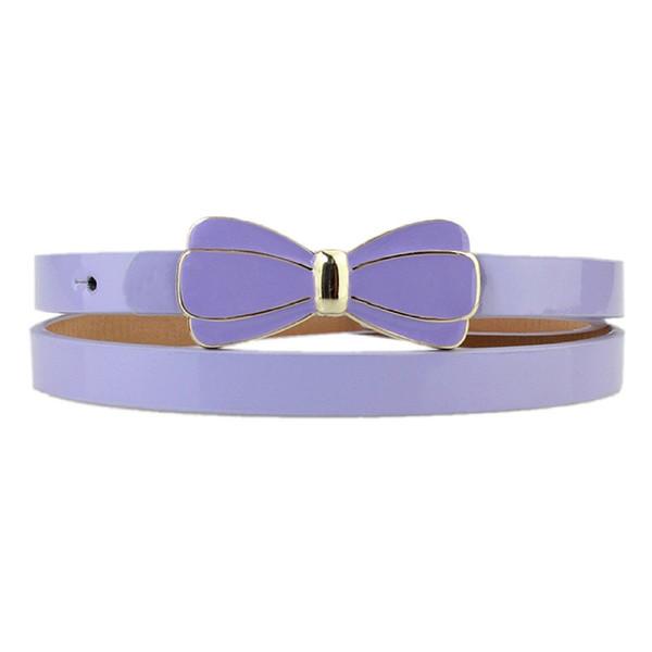 Vente en gros charme ceinture ceinture peinture en aérosol fille fine ceinture boucle style boucle ardillon ceinture-6 couleurs