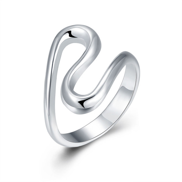 Free shipping Wholesale 925 Sterling Silver Plated Fashion S ring -8 code Jewelry LKNSPCR113-8