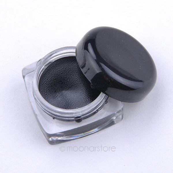 Toptan Satış - Toptan-Yeni Kadınlar Makyaj Suya Jel Eyeliner Siyah Eyeliner Jel Makyaj Kozmetik + Fırça Makyaj Seti Ücretsiz Kargo