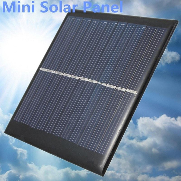 Wholesale- Mini 6V 1W Solar Power Panel Solar System Module DIY For Light Battery Cell Phone Toys Chargers Portable