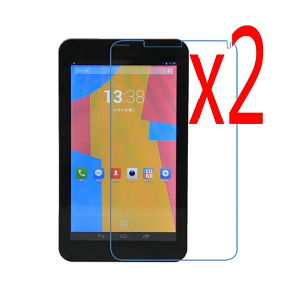 """Wholesale- 2x films + 2x Clean Cloth , Retail Package Clear LCD Screen Protector Protective Film Guards For Cube U51GT_C8 Talk7x Talk 7x 7"""""""