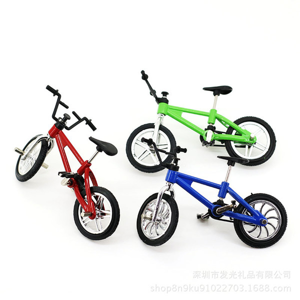 Finger bike creative simulation children gift mini bicycle alloy finger toys